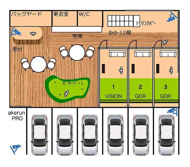 3打席設置イメージ図