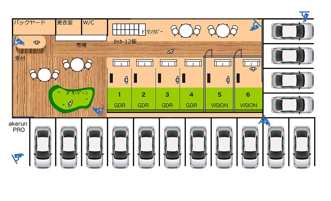 6打席設置イメージ図